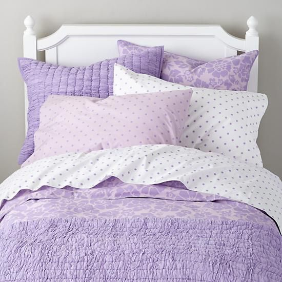 Dream Girl Kid Bedding Lavender The Land Of Nod Casual Bedroom Design Girl Beds Casual Bedroom