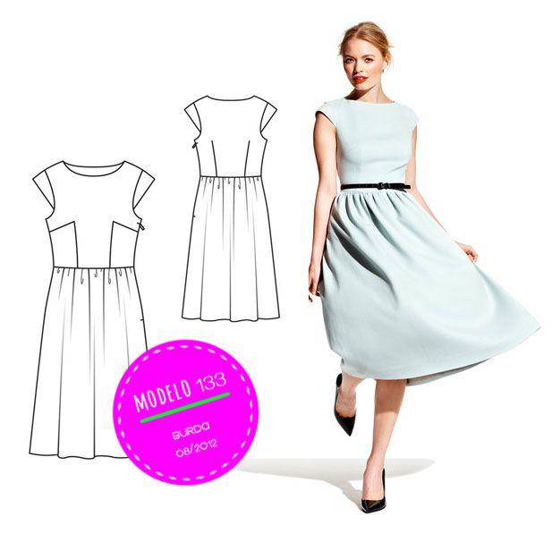 Como Hacer un Vestido de Cintura Alta- DIY ropa | Sewing+Women ...