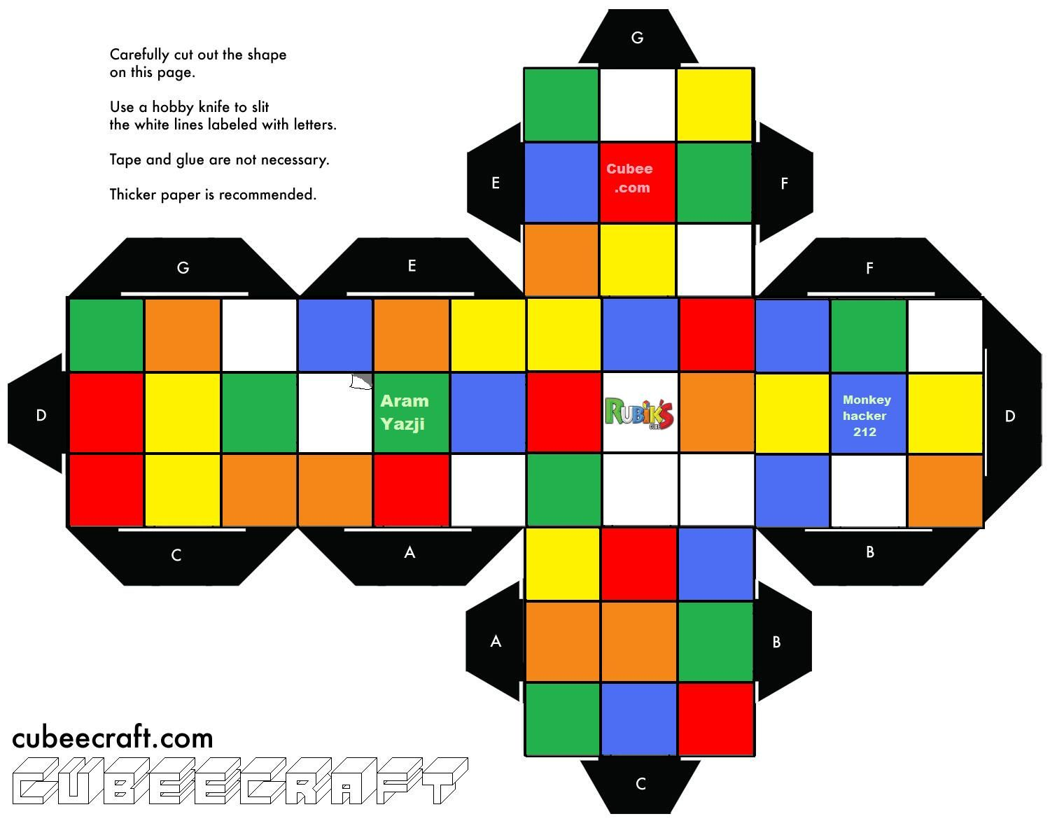 Rubik S Cube Template Google Search
