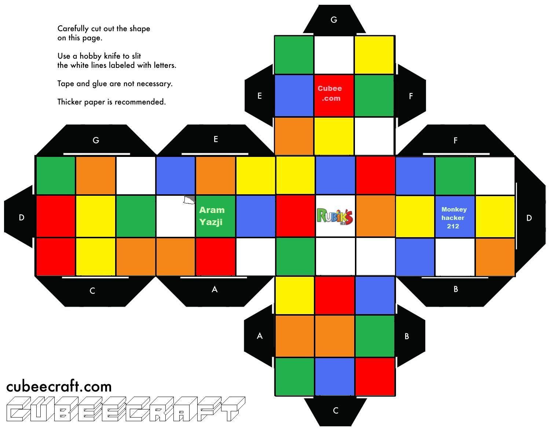 Rubik S Cube Template