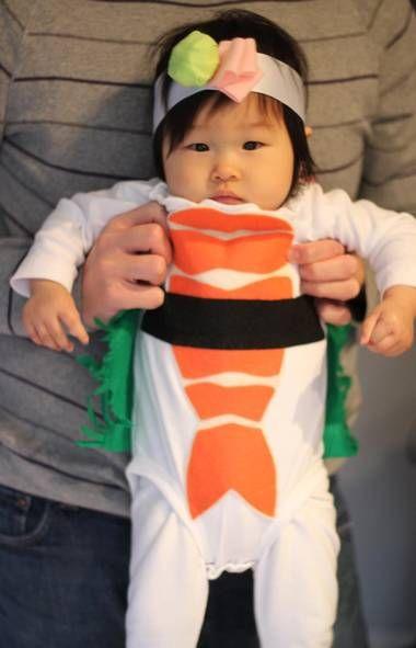Aw, sheu0027s a sushi! Plus 11 other homemade Halloween costumes - trajes de halloween para bebes