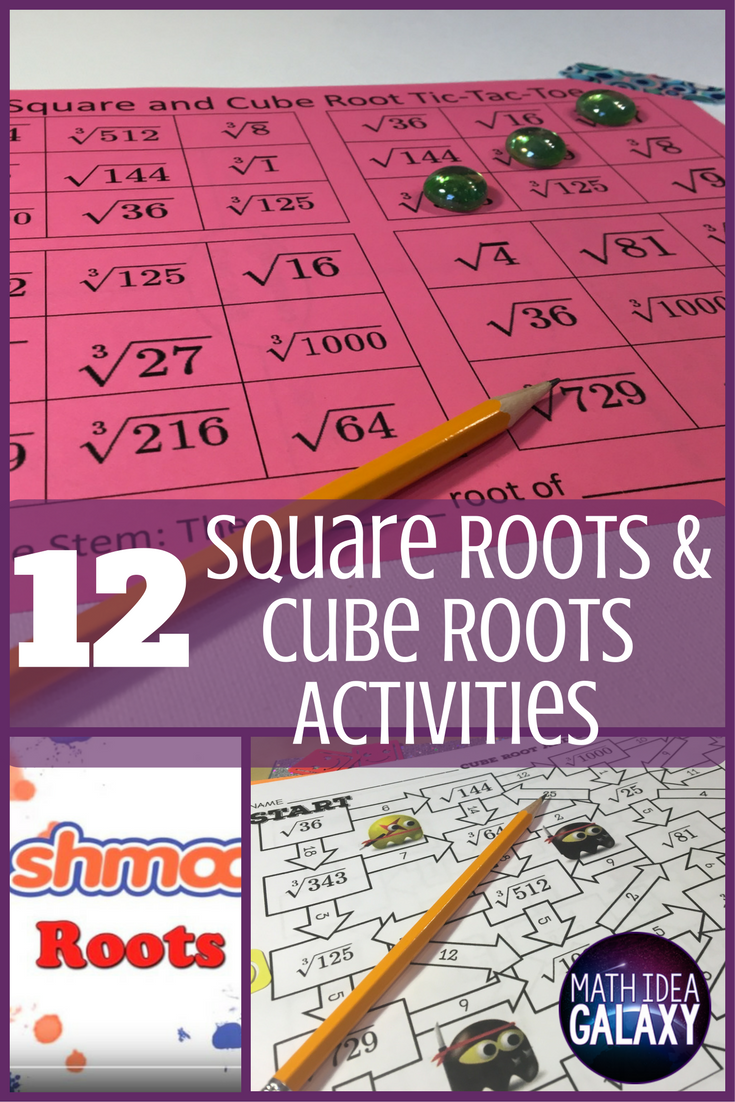 hight resolution of Check out all 12 engaging activities for practicing square roots and cube  roots in this blog post. …   Square roots