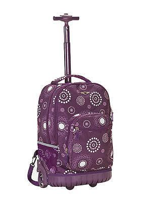 c04c9790f392 Rolling Backpack Rockland Sedan Purple Pearl School Bookbag Carry On 19in  Bag