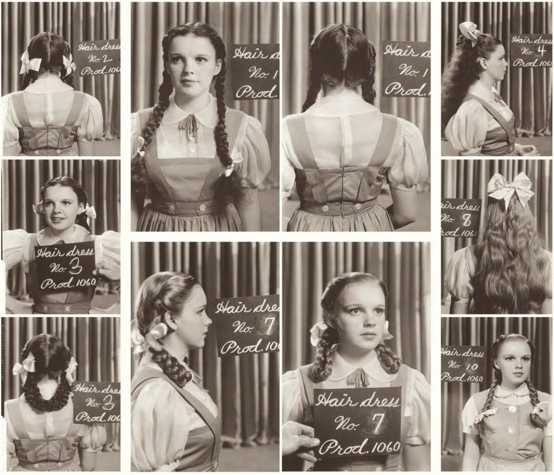 Judy Garland Hair And Costume For Wizard Of Oz Judy Garland Wizard Of Oz Wizard Of Oz Pictures