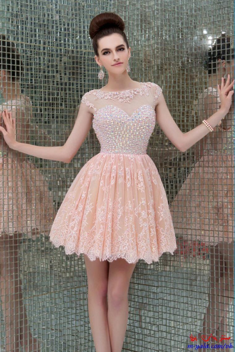 فساتين سهرة قصيرة للصبايا اشيك فساتين خروج للمراهقات 2015 Mini Homecoming Dresses Homecoming Dresses Prom Dresses Short
