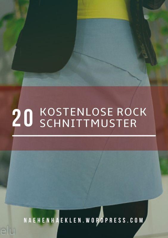 20 kostenlose Rock-Schnittmuster, alle auch Plus Size | Pinterest ...