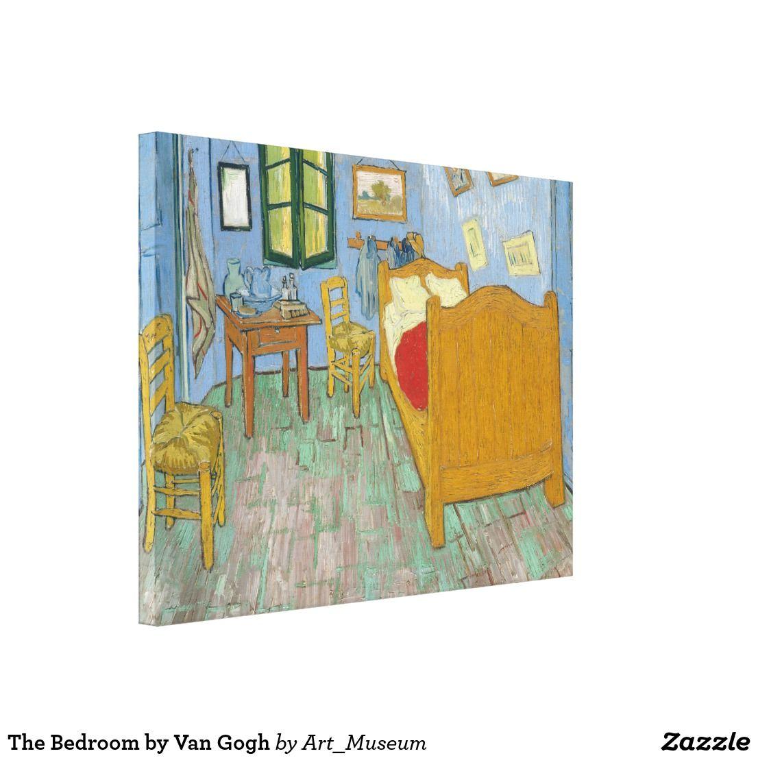 The Bedroom By Van Gogh Canvas Print Zazzle Com Van Gogh Canvas
