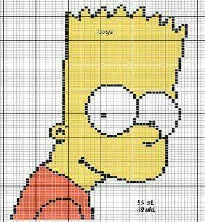 The Simpsons, Cross Stitch, Craft Ideas, Childrenu0027s Characters, Trocar,  Perler Beads, Plastic Canvas, Minecraft, Cartoons