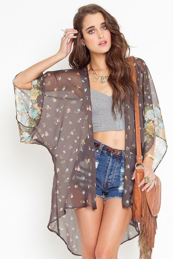 See -through kimono jacket | Fashionista | Pinterest | Kimono ...