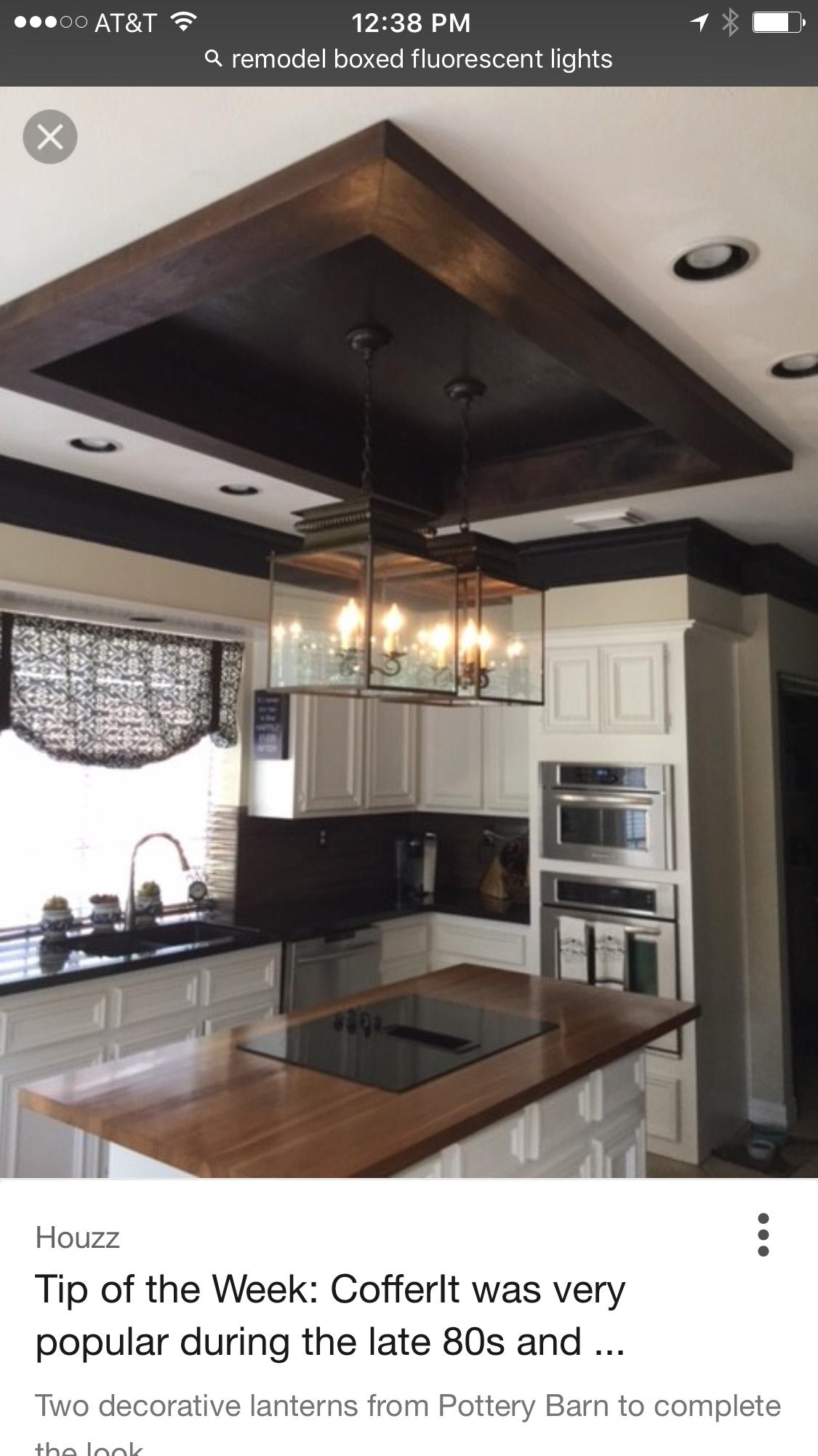 Box light update #kitchenceilinglightsdesign   Kitchen ceiling lights