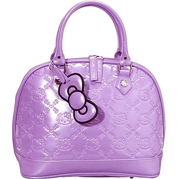 53a93c542 Hello Kitty Rhapsody Patent Embossed Tote Bag ($51) ❤ liked on Polyvore  featuring bags