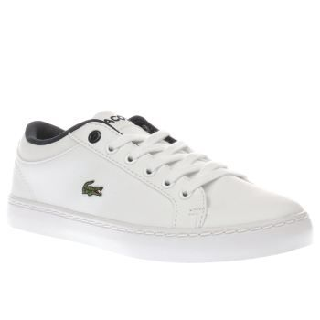 Lacoste White Straightset Unisex Junior Arriving in white, the Lacoste Straightset is an absolute style staple and perfect for any occasion. Downsized for kids, the versatile plimsoll features a man-made upper, joined with subtle perforated http://www.MightGet.com/january-2017-13/lacoste-white-straightset-unisex-junior.asp