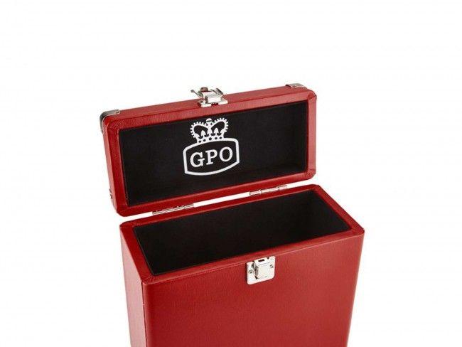 "GPO Platenkoffer 7"" Rood - Platenspelers - 123platenspeler.nl"