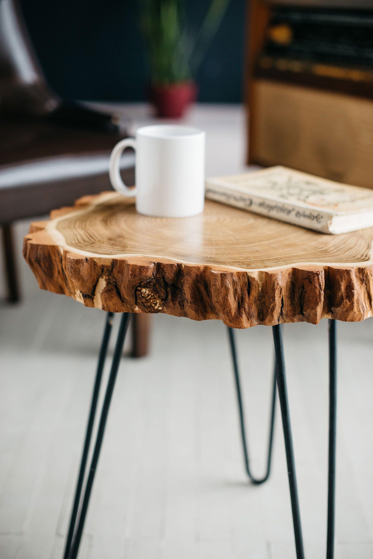 Round Coffee Table Live Edge Coffee Table Rustic Wood Slab Etsy Live Edge Coffee Table Coffee Table Wood Coffee Table Design