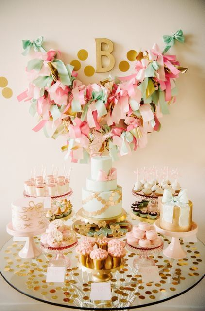 Bows Birthday Party from My Sweet and Saucy (tons of gorgeous pics & inspiration) %u2013 this is part 2 so there%u2019s another blog post with more details also