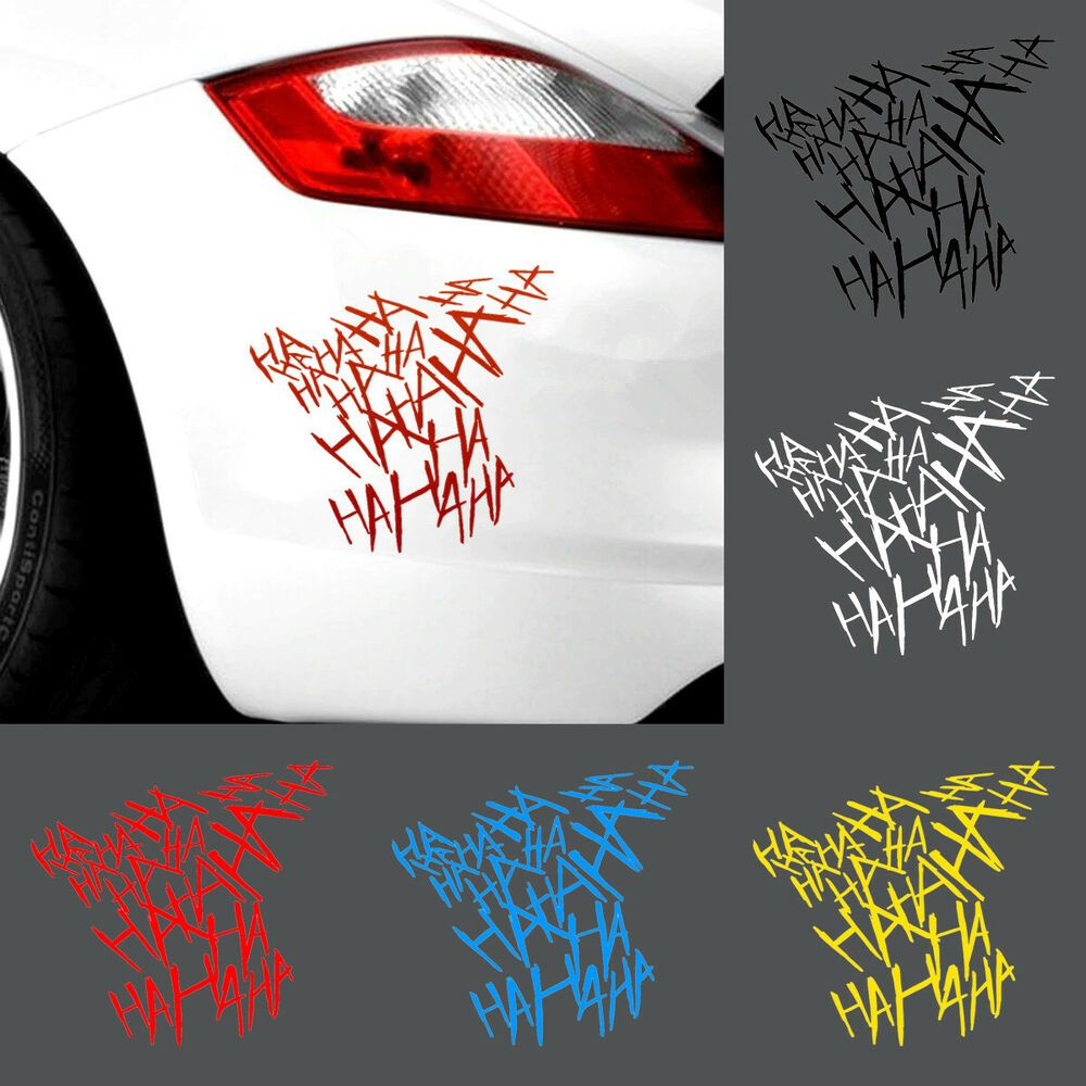Hahaha Joker Sticker Decal Emblem Vinyl For Car Truck Bike Helmet Laptop Bag Unbranded Car Sticker Design Sticker Design Bike Stickers [ 1000 x 1000 Pixel ]