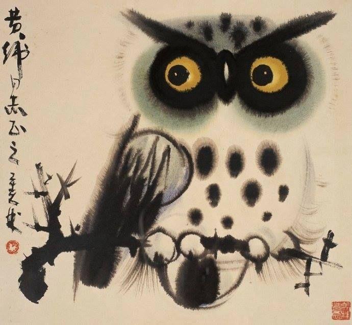 японская сова рисунок световое звуковое оборудование