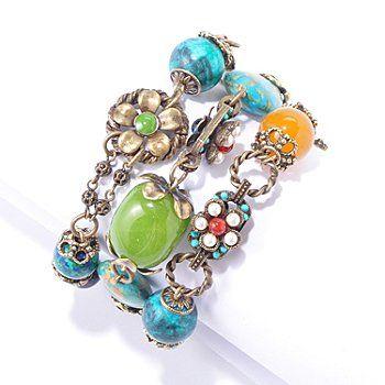 Vintage floral bead multi-strand bracelet from Sweet Romance!
