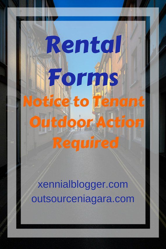 Rental Forms Notice to Tenant for Outdoor Action Required Clean Up