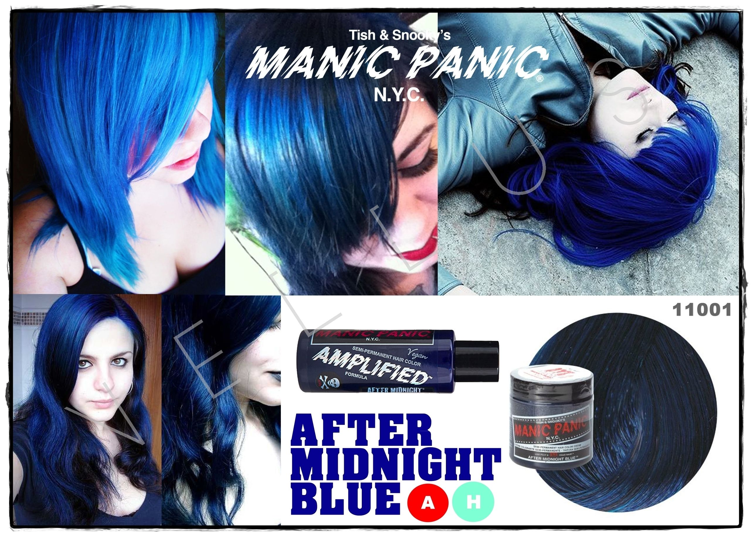 Manic Panic Amplified After Midnight Blue Vellus Hair Studio 83a Tanjong Pagar Road S 088504 Tel 62246566 Manic Panic Blue Manic Panic Manic Panic Colors