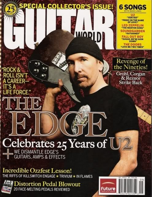 U2 The Edge Guitar World U2newsactualite U2newsactualitepinterest Bono Theedge Larrymullen Adamc Telecaster Custom Larry Mullen Jr Rock N Roll History
