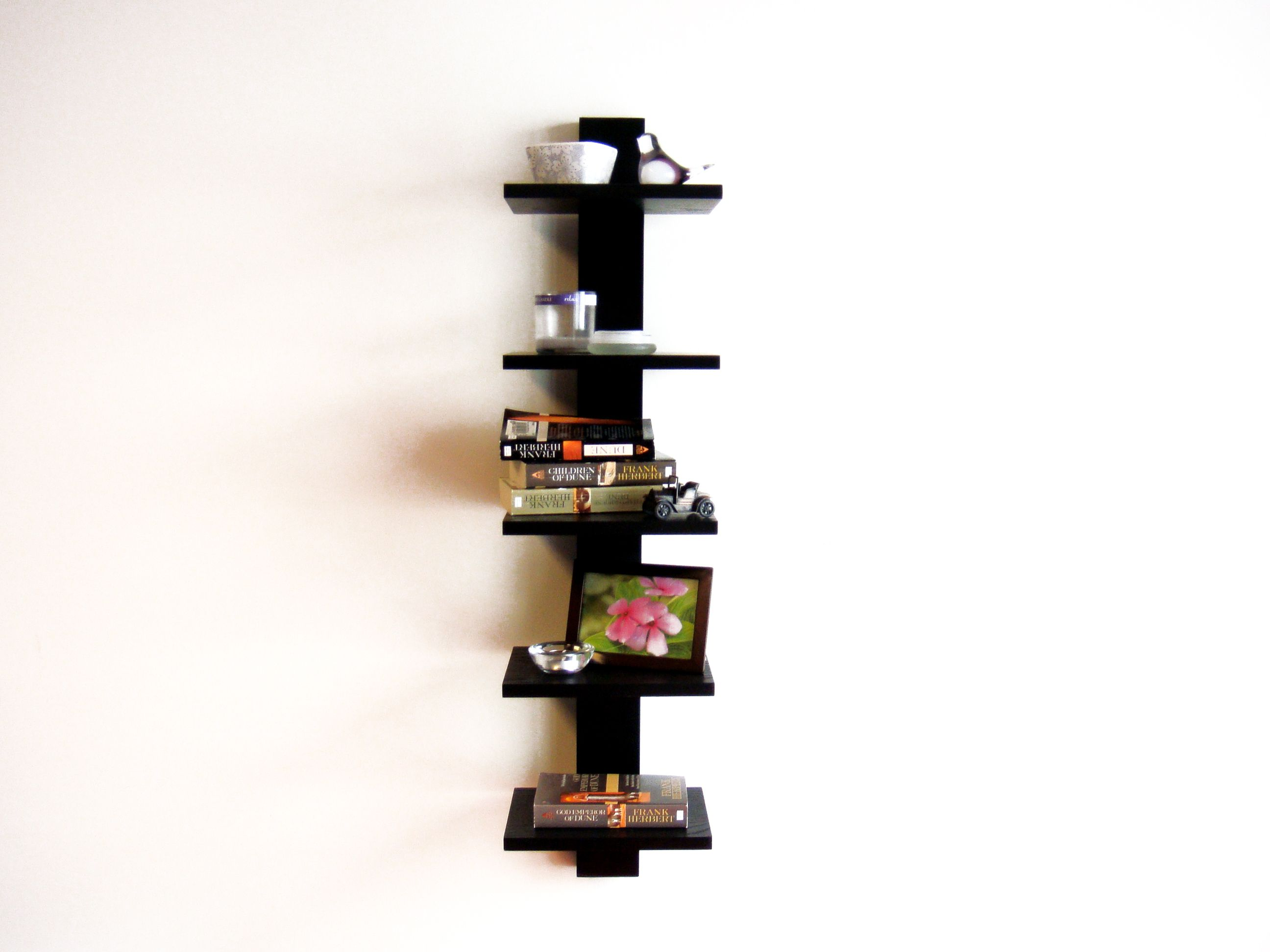 Spine Wall Book Shelves Black Proman Products Pp Wm16565 Wall