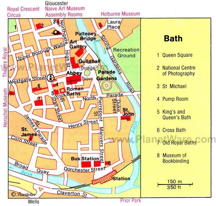 Bath Map Tourist Attractions London 2018 In 2019 Bath England - Us-map-with-tourist-attractions
