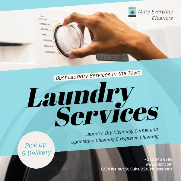 How To Design A Local Laundry Service Instagram Poster Get