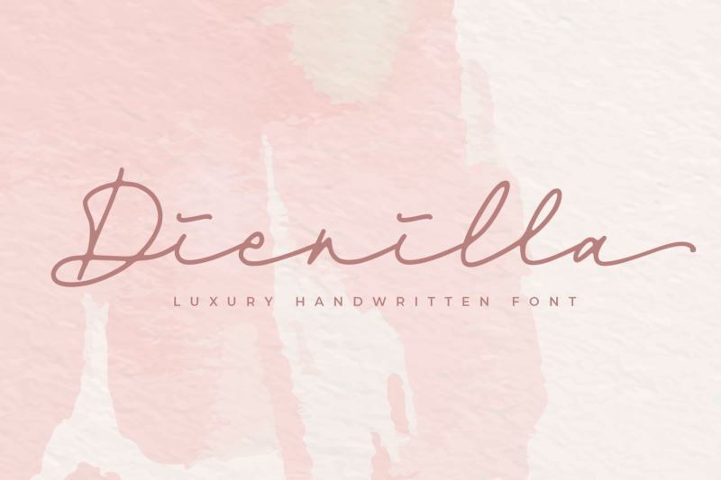 Dienilla -signature font- By ABODNYL | TheHungryJPEG.com