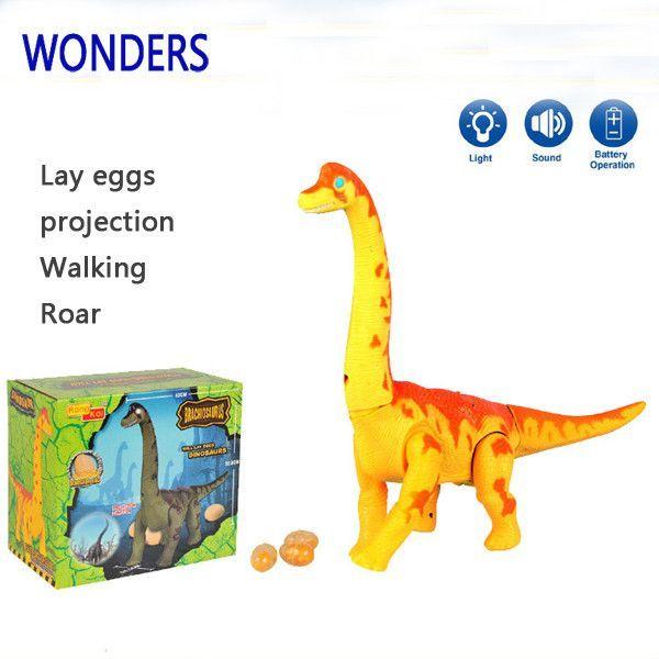 Brachiosaurus Dinosaur Lay Eggs Walks Sound Projection Toy Model Xmas Child Gift