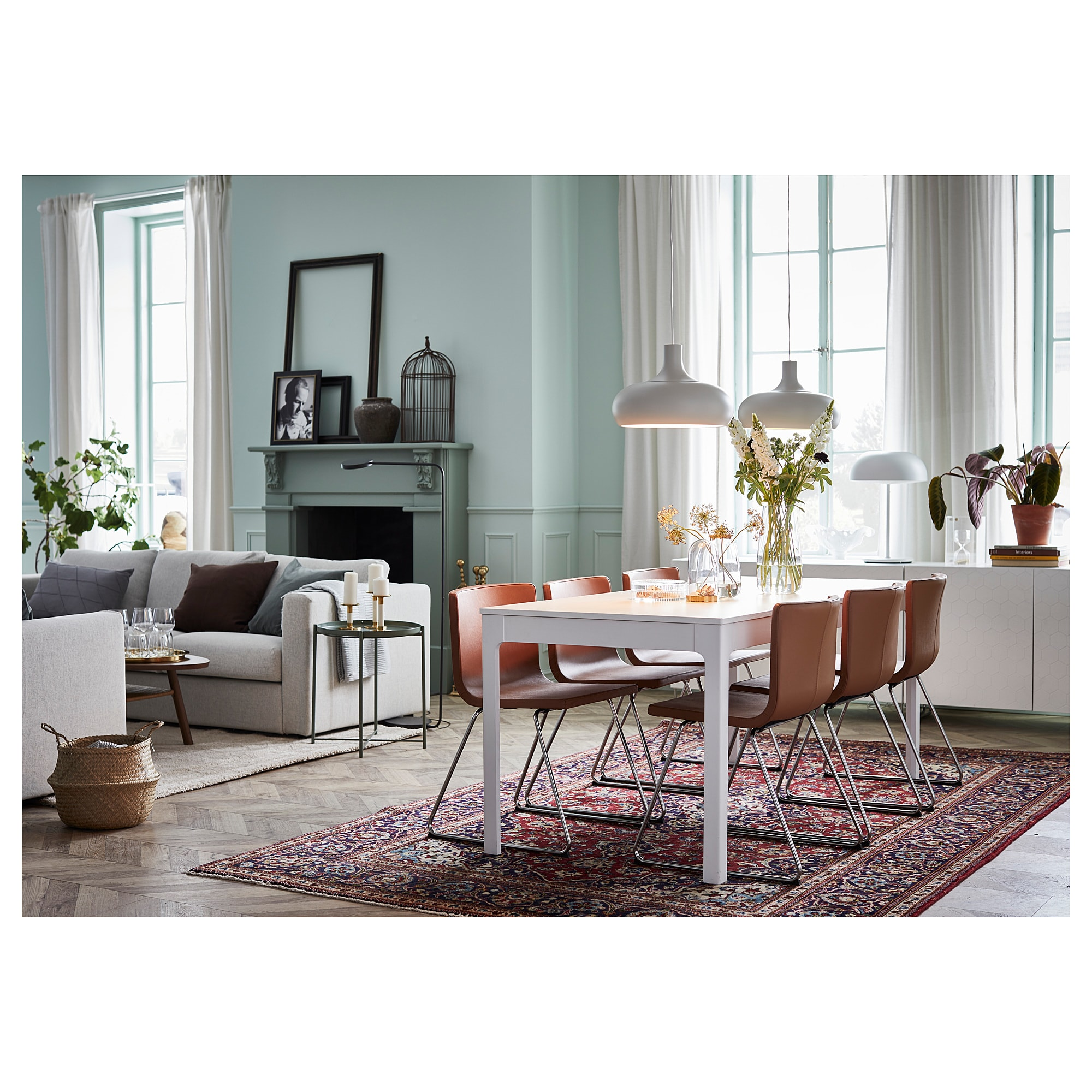 Ekedalen Extendable Table White Min Length 70 7 8 Ikea Dining Room Furniture Modern Dining Room Dining Table