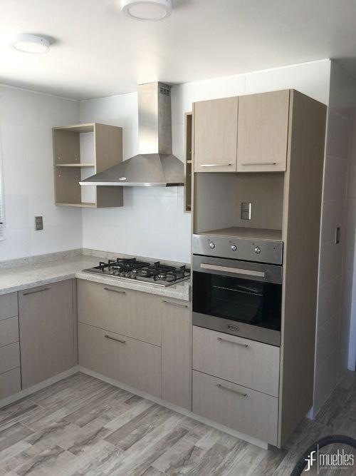 Muebles de cocina en melamina de 18mm cubierta en granito condominio marbella chile - Cocinas marbella ...