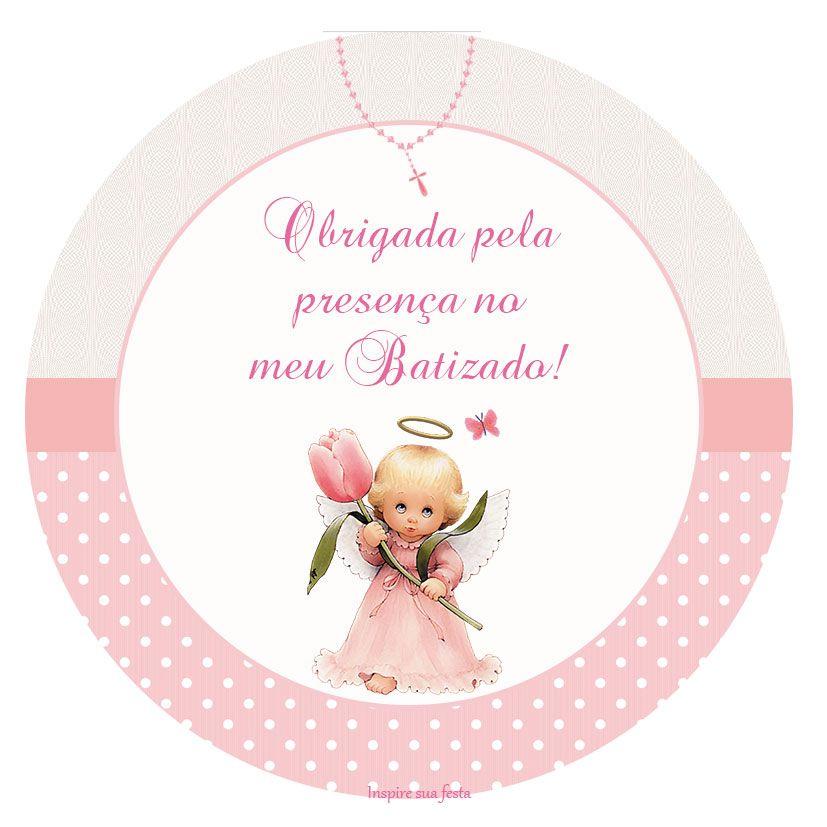 Suficiente Batizado Menina – Kit festa infantil grátis para imprimir  IA49