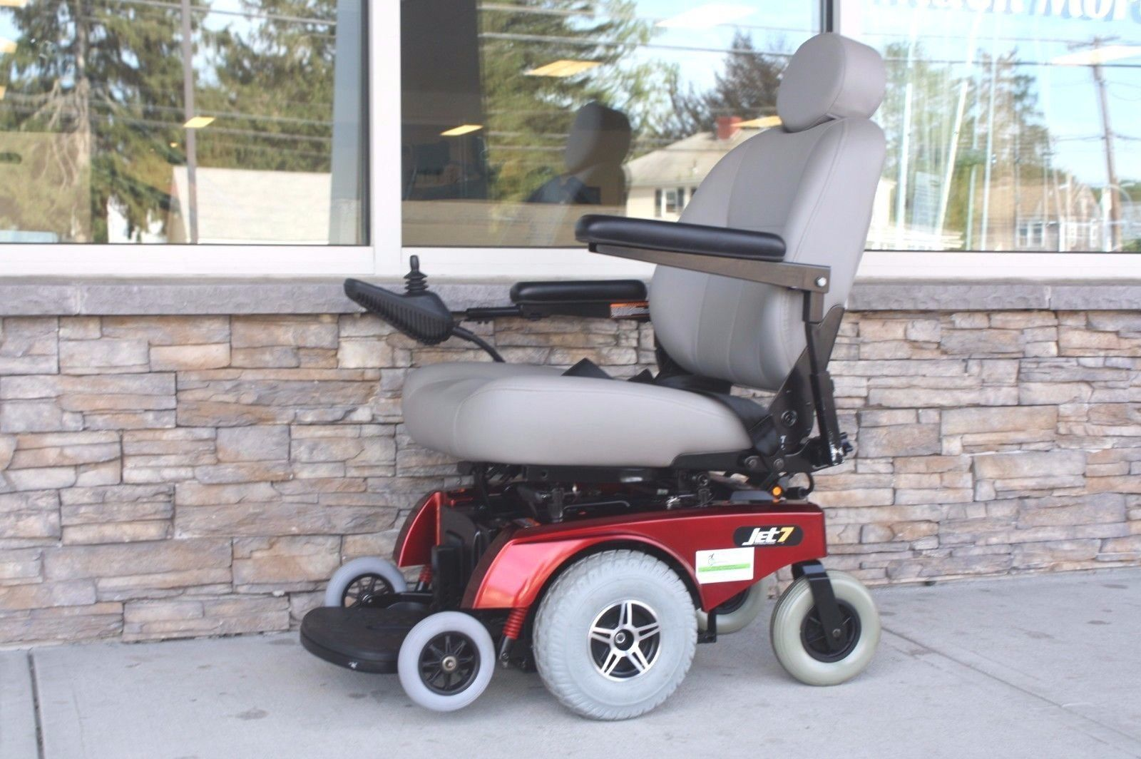 jet 7 power chair kmart table and chairs red pride mobility mid wheel drive wheelchair
