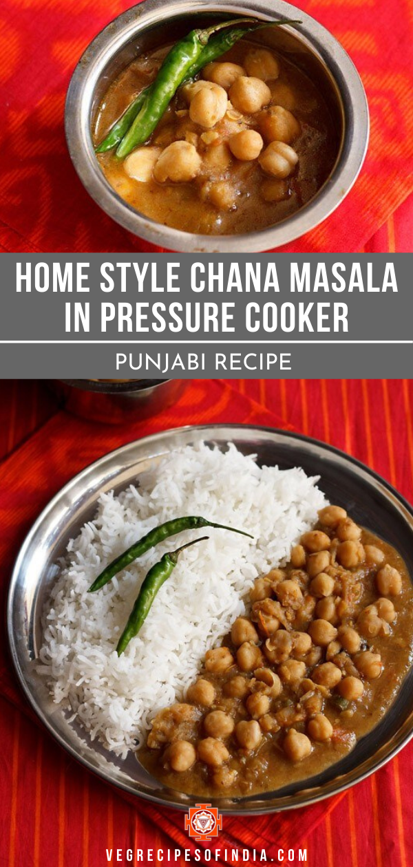 home style chana masala in a pressure cooker in 2020 chana masala healthy indian snacks indian food recipes vegetarian pinterest