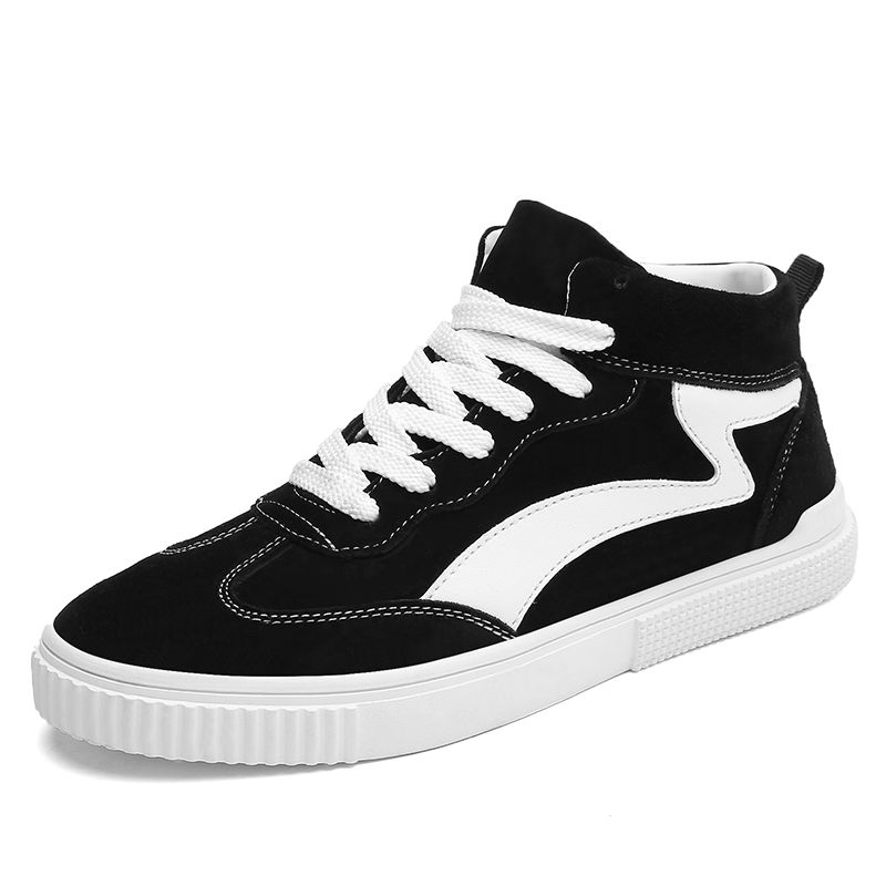 291f08d9e8 Street Elevator Trainers for Men Taller 2.8inch   7cm High Top Skate Shoes  Black Trendy
