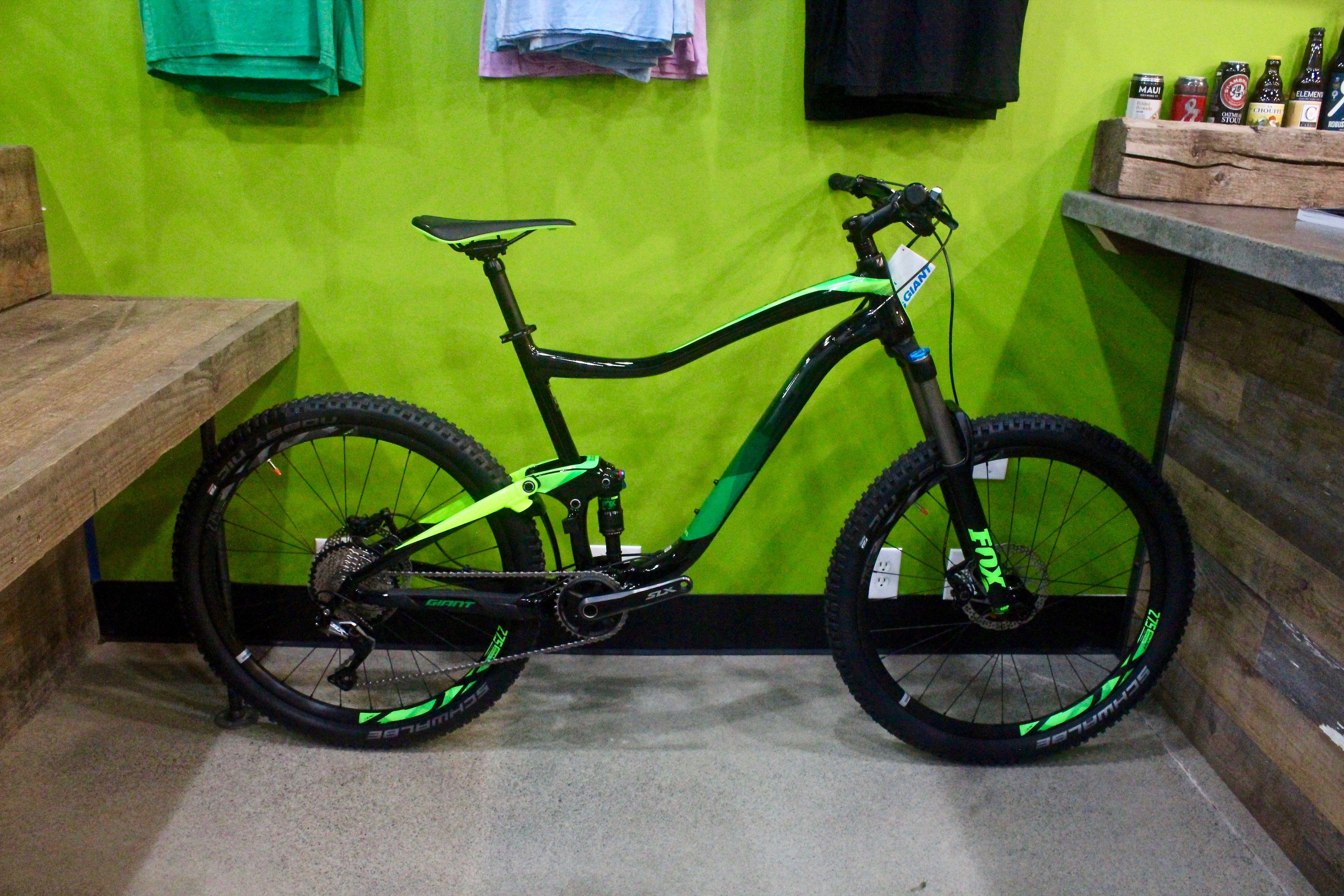 Giant Trance 2 Green Black Mens Mountain Bikes Size L Xl