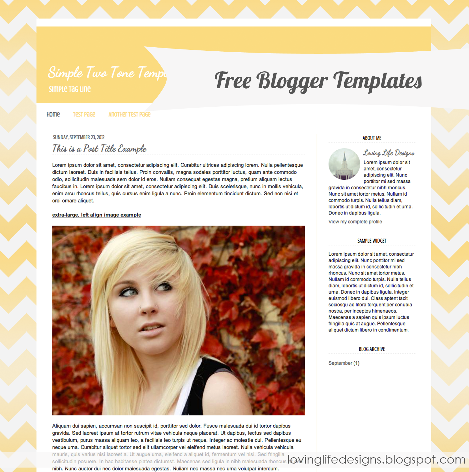 Free Blogger Template Designs - {Free Blog Template} | Blog ...