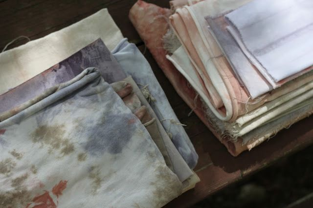 beehive craft collective: A Crafty Long Weekend: Natural Tie-Dyeing at the Cottage