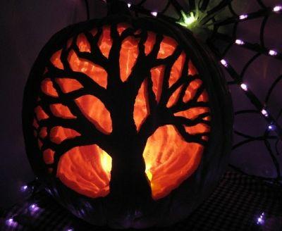 martha stewart pumpkin carving tip: stencil designs onto your