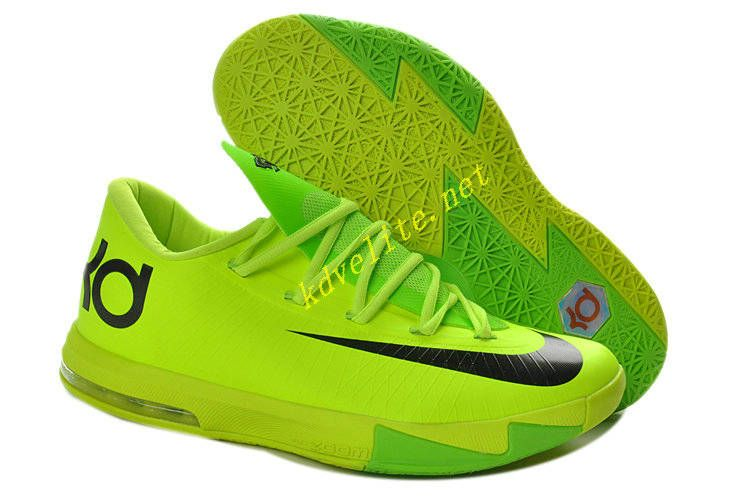 Volt Electric Green Nike KD VI Black 599424 701  6353b77328