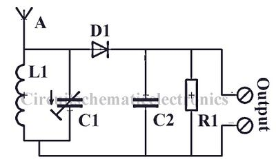 Radio circuit without source voltage Schematic Diagram