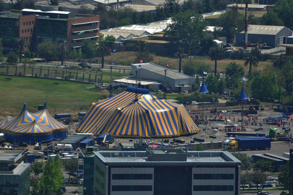 Varekai Cirque du Soleil Big Top Set up  in Chile