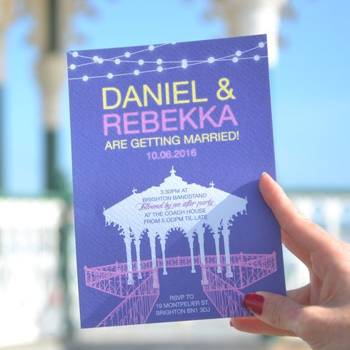 Brighton Bandstand Wedding Invitations Brighton Wedding themes