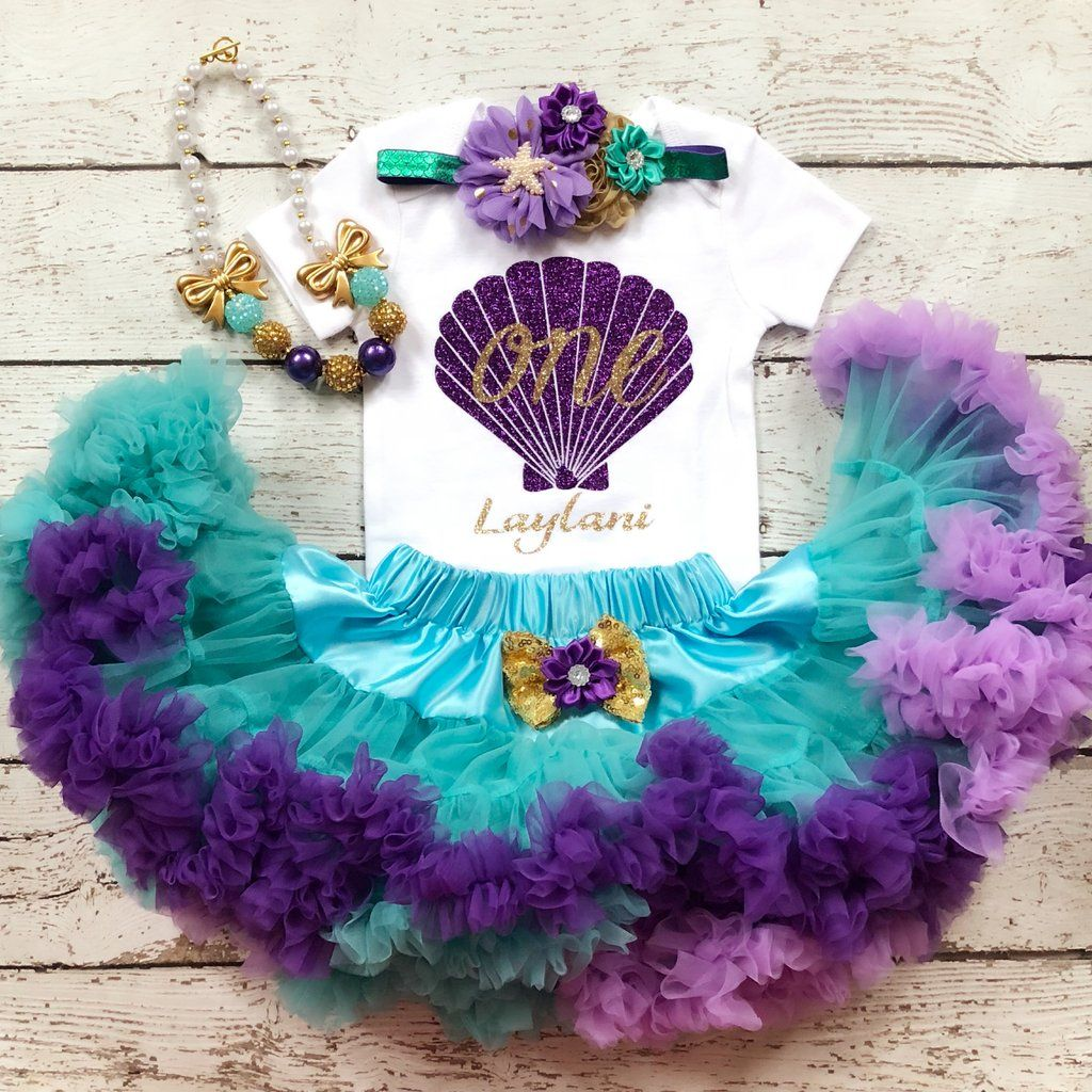 Mermaid First Birthday outfit -Under The Sea/First Birthday outfit/ Little Mermaid #birthdayoutfit