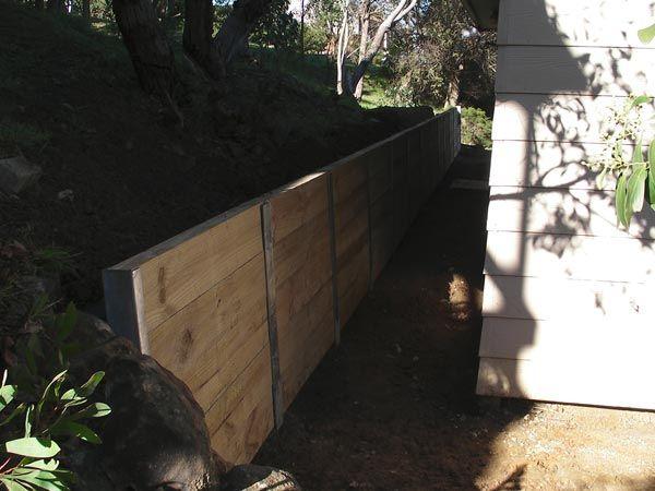 Fairhaven Wooden Sleeper Retaining Wall « Melbourne ...