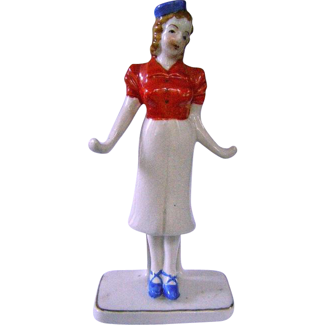 50s Ceramic Red Letter Japan Ring Holder Stewardess Hostess Www Rubylane Com Shop Tradewindsantiques