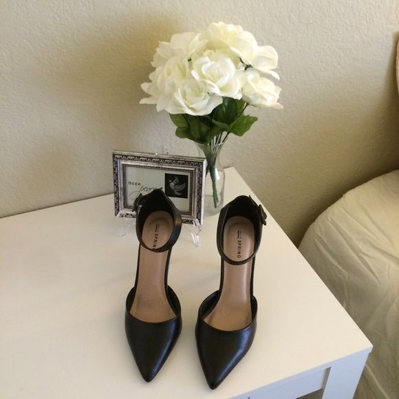 """Call it spring"" black heels black pointed heels Call It Spring Shoes Heels"