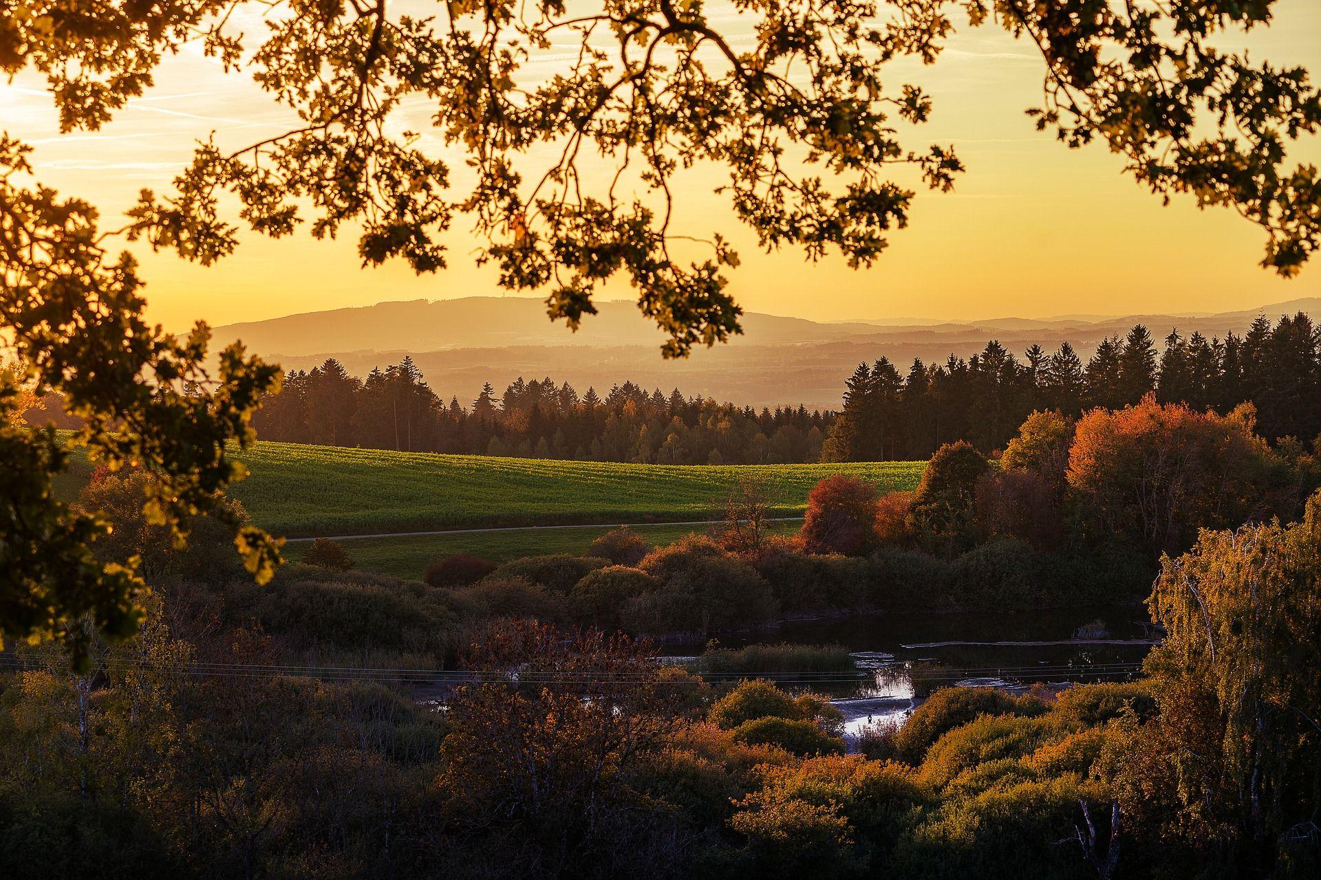 The Path to Joy Landscape, Sunset sky, Travel music