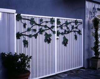 Iron And Wood Entry Gate System Entry Gates Gate Design